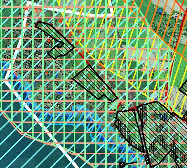 Del av karta till Ängelholms nya översiktsplan för Barkåkra