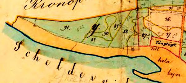 Trekanten Magnarp Björkhagen Jannes väg på 1886 års karta