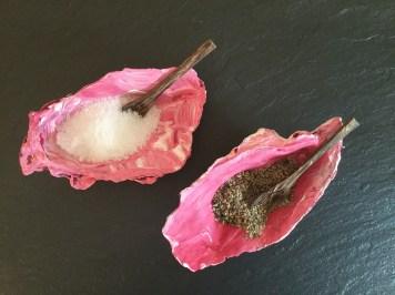 Oyster shell salt n pepper