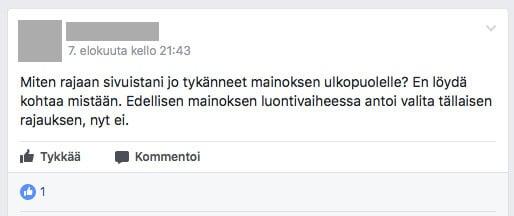 Facebook-ryhmissä kysytää usein apua