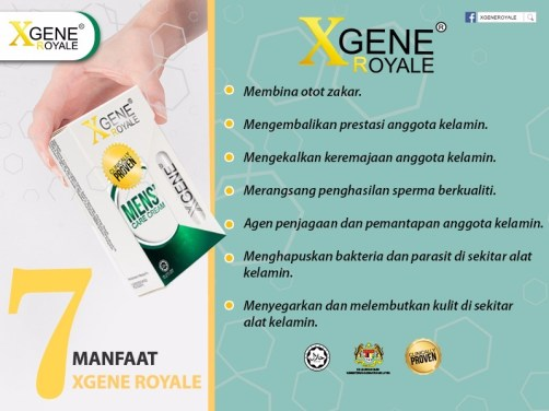 Xgene Royale dibuat dari tongkat Ali hasil formula Dr Ismail Tambi.