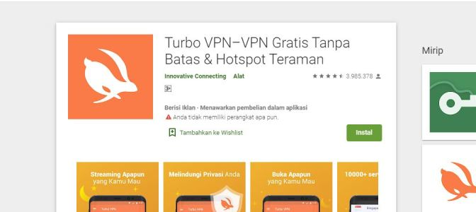Link Download Aplikasi Turbo VPN