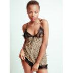 Leopard Print Lingerie Dress