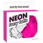 Neon Furry Cuffs Pink Handcuffs