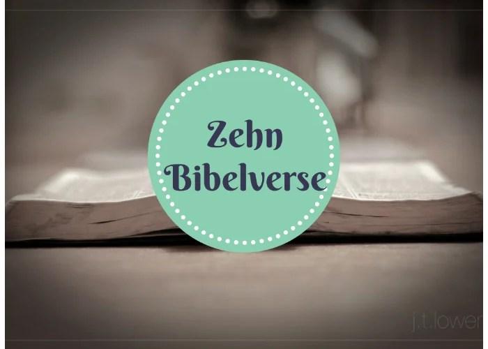 10 Bibelverse die ich lernen will