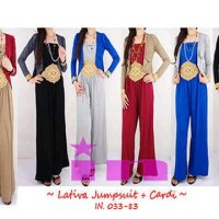 Lativa Jumpsuit + cardigan