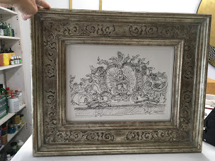 Renaissancerahmen mit Gravurornament