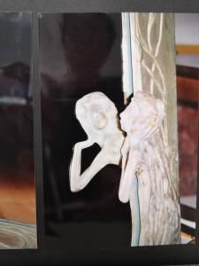 Jugendstil Spiegel mit Frauenfigur