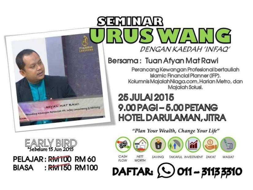 Poster Program Seminar Urus Wang KEDAH