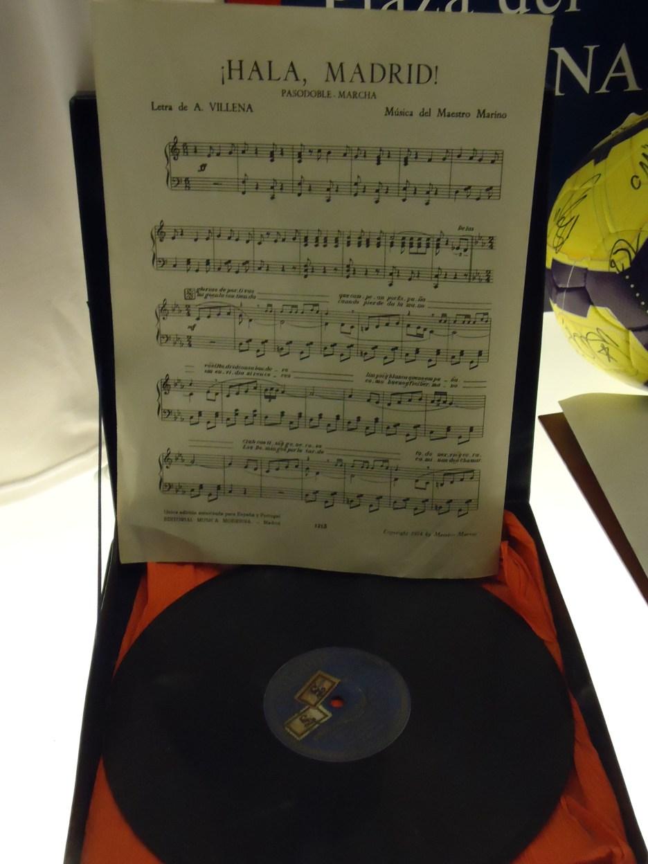 Sheet music of the original Real Madrid club anthem.