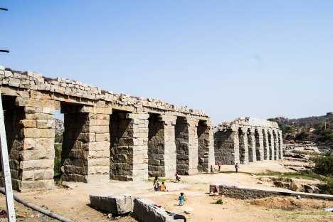 The aqueducts of Hampi