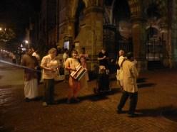 ISKCON devotees chanting Hare Rama Hare Krishna