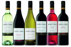 Selection of Jacob's Creek Classic wines.