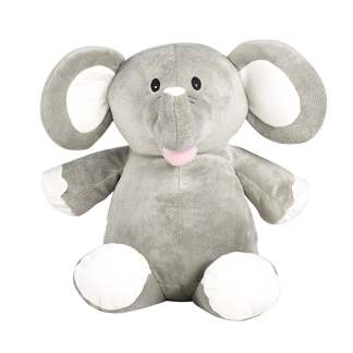 personalised embroidery cubbie teddy bear baby kids keepsake toy grey elephant
