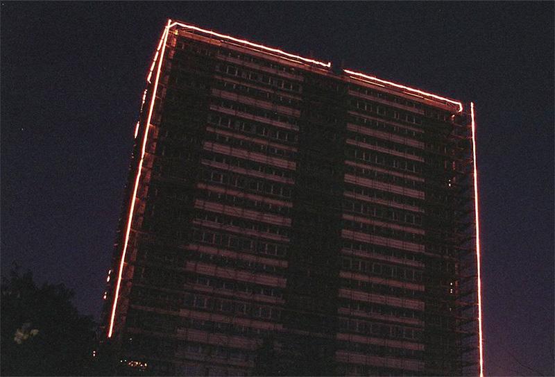 Lichterkette an der Hanielstraße