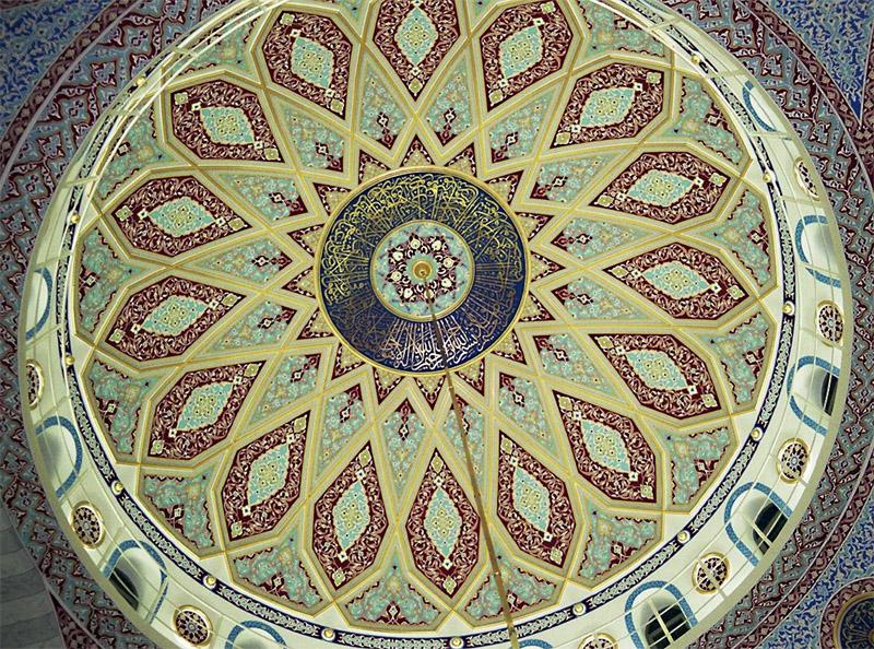 Die Kuppel von innen betrachtet