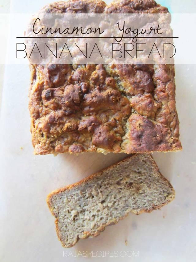 Cinnamon Yogurt Banana Bread | gluten-free, egg-free | RaiasRecipes.com