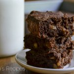 Fudgy Dark Chocolate Banana Walnut Brownies