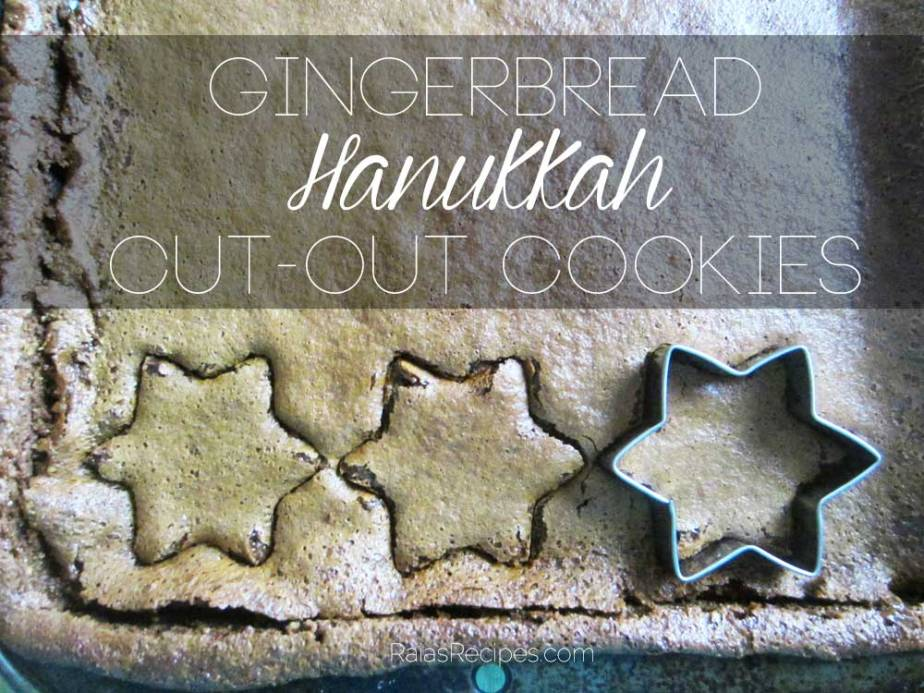 Gingerbread Hanukkah Cut-Out Cookies | grain-free, gluten-free, egg-free, dairy-free, refined sugar-free | RaiasRecipes.com