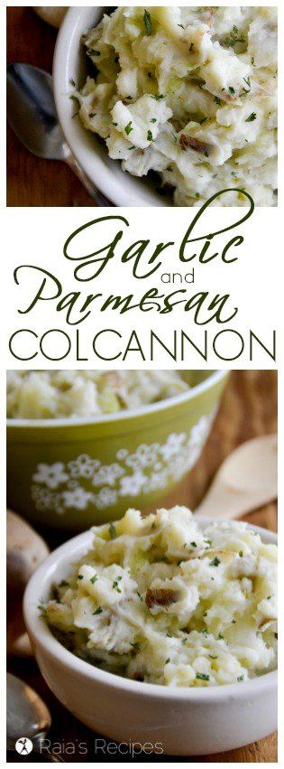 Easy and delicious, this Irish-inspired Garlic Parmesan Colcannon is a great gluten-free addition to any meal, or even a simple meal in itself! RaiasRecipes.com