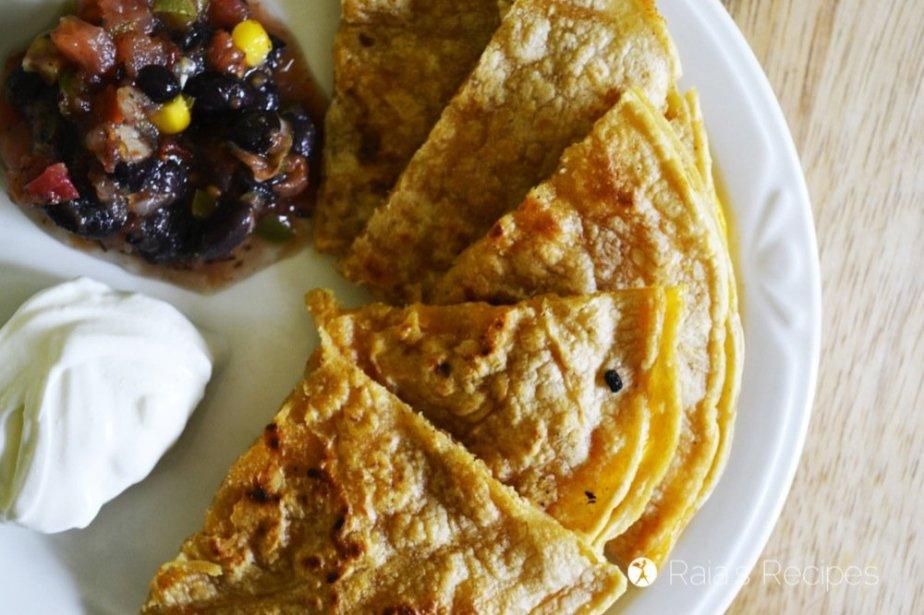 Cheese Triangles :: Kid-Favorite Quesadillas | RaiasRecipes.com