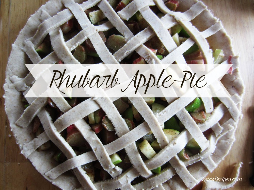 Rhubarb Apple Pie   gluten-free, dairy-free, egg-free, refined sugar-free   RaiasRecipes.com