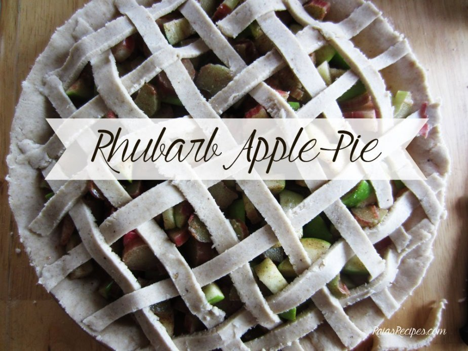 Rhubarb Apple Pie | gluten-free, dairy-free, egg-free, refined sugar-free | RaiasRecipes.com