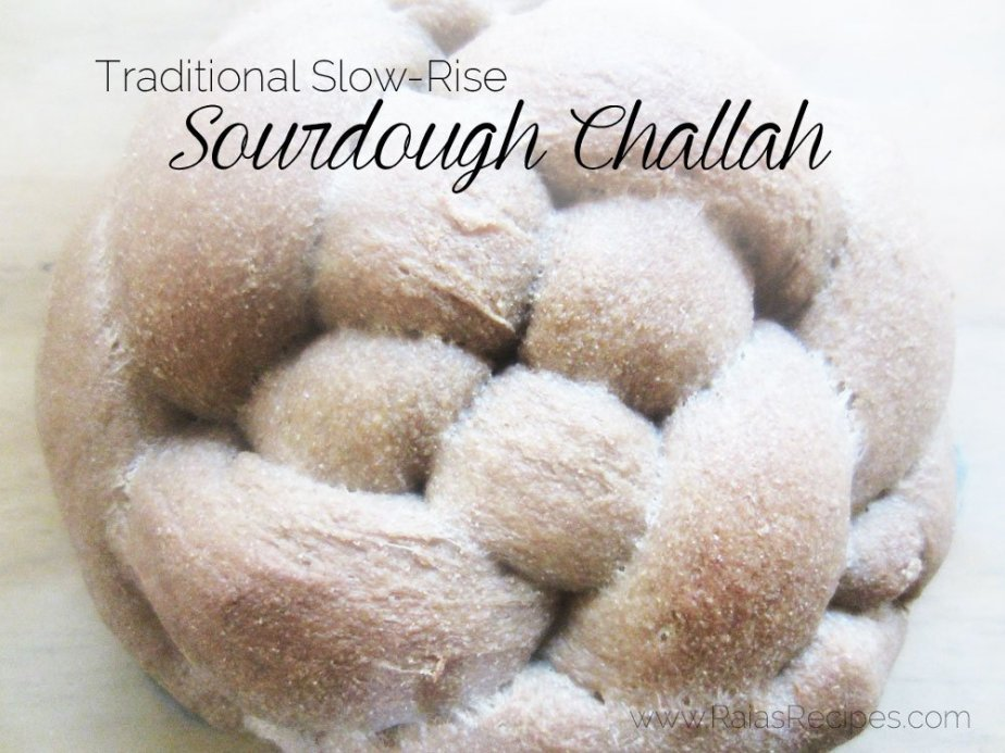 Traditional Slow-Rise Sourdough Challah  | RaiasRecipes.com