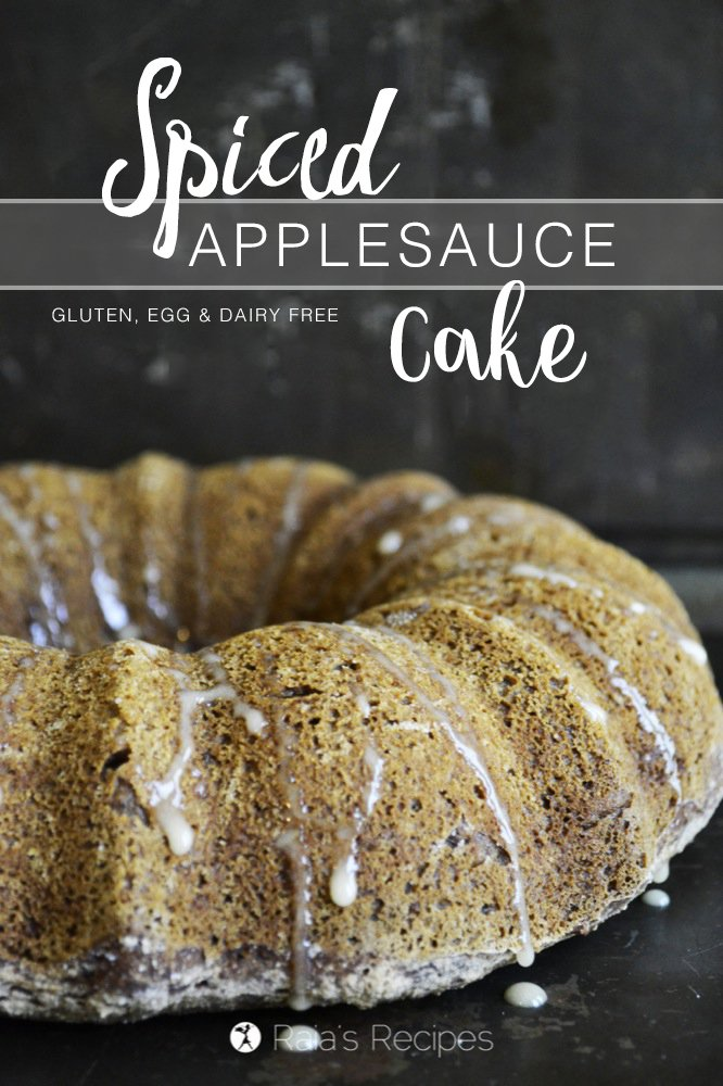 Whether you're celebrating Rosh Hashanah, or just in search of an easy treat, this gluten-free Spiced Applesauce Cake is the perfect fit. RaiasRecipes.com