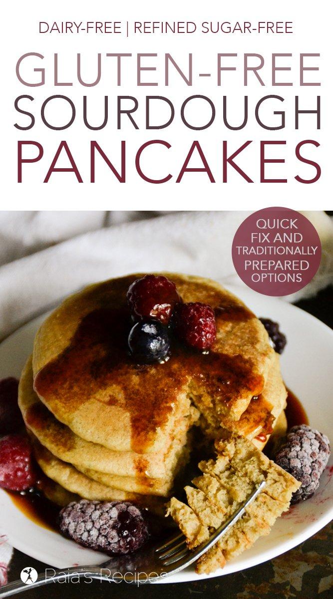 Gluten-Free Sourdough Pancakes #glutenfree #sourdough #pancakes #fermentedfood #traditionalfood #sorghumflour #dairyfree #refinedsugarfree #breakfast
