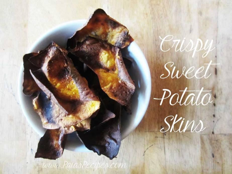 Crispy Sweet Potato Skins | RaiasRecipes.com