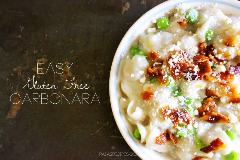 Easy Gluten Free Carbonara | RaiasRecipes.com