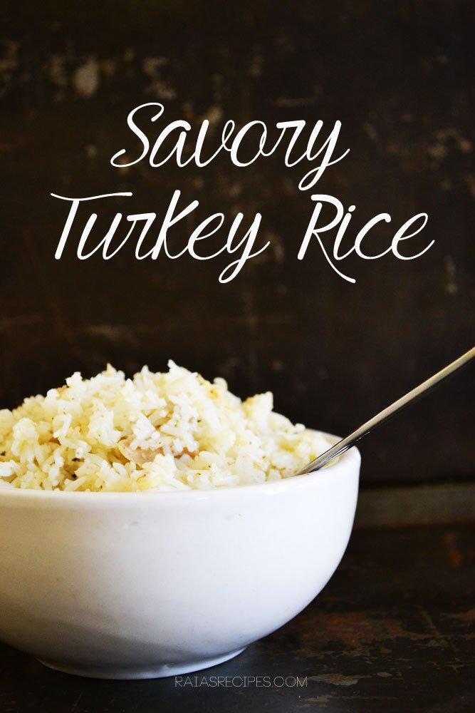 Savory Turkey Rice | gluten-free, egg-free, dairy-free, sugar-free | RaiasRecipes.com