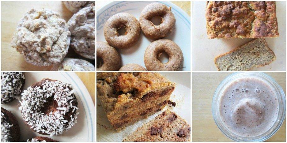 Gluten-Free Banana Bread Collage | RaiasRecipes.com