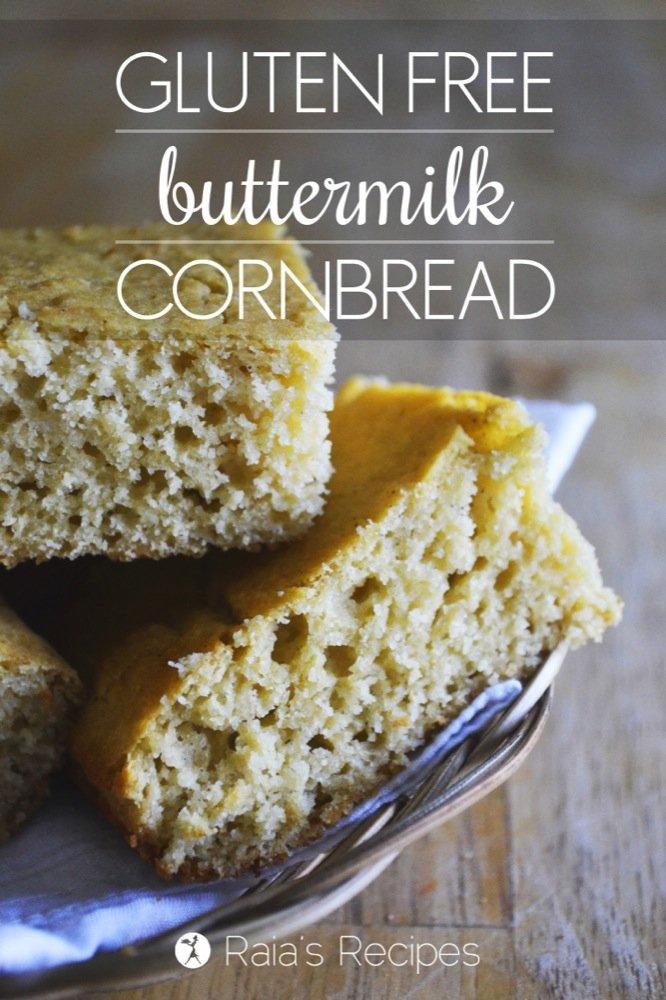 Gluten-Free Buttermilk Cornbread | RaiasRecipes.com