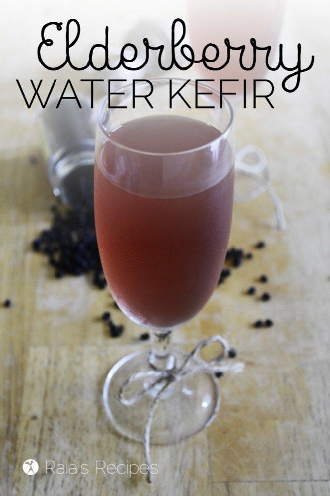 Elderberry Kefir   dairy-free, sugar-free   RaiasRecipes.com