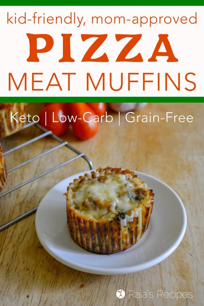 Moms need healthy, easy lunches to feed growing kiddos, and these little keto and low-carb Pizza Meat Muffins are a delicious lunch sure to be a kid pleaser!