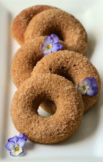 Cinnamon Sugar Donuts from Forest & Fauna | Savoring Saturdays Gluten-Free Linky Party | RaiasRecipes.com