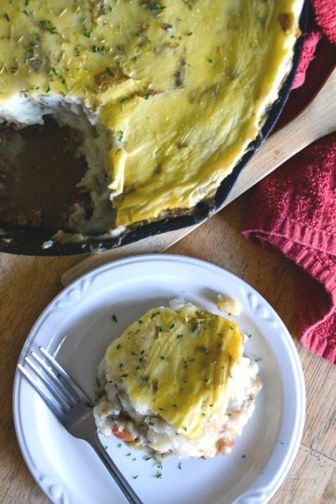 Rustic Irish Shepherd's Pie top