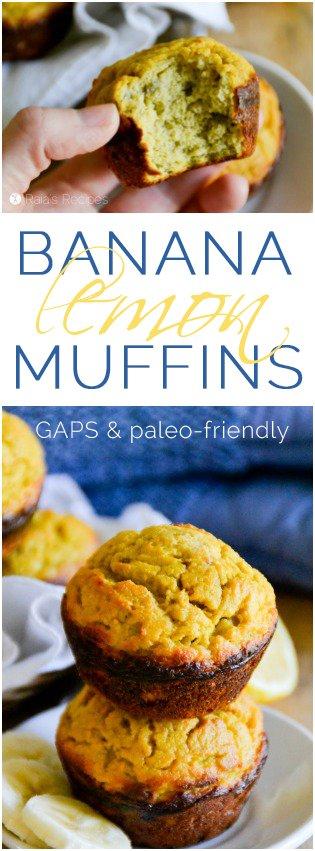 Grain Free Banana Lemon Muffins   RaiasRecipes.com
