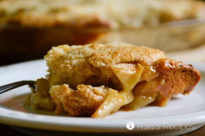 This Grain-Free Maple Apple Cobbler is the perfect treat, whether you enjoy it for breakfast, dinner, or dessert! RaiasRecipes.com