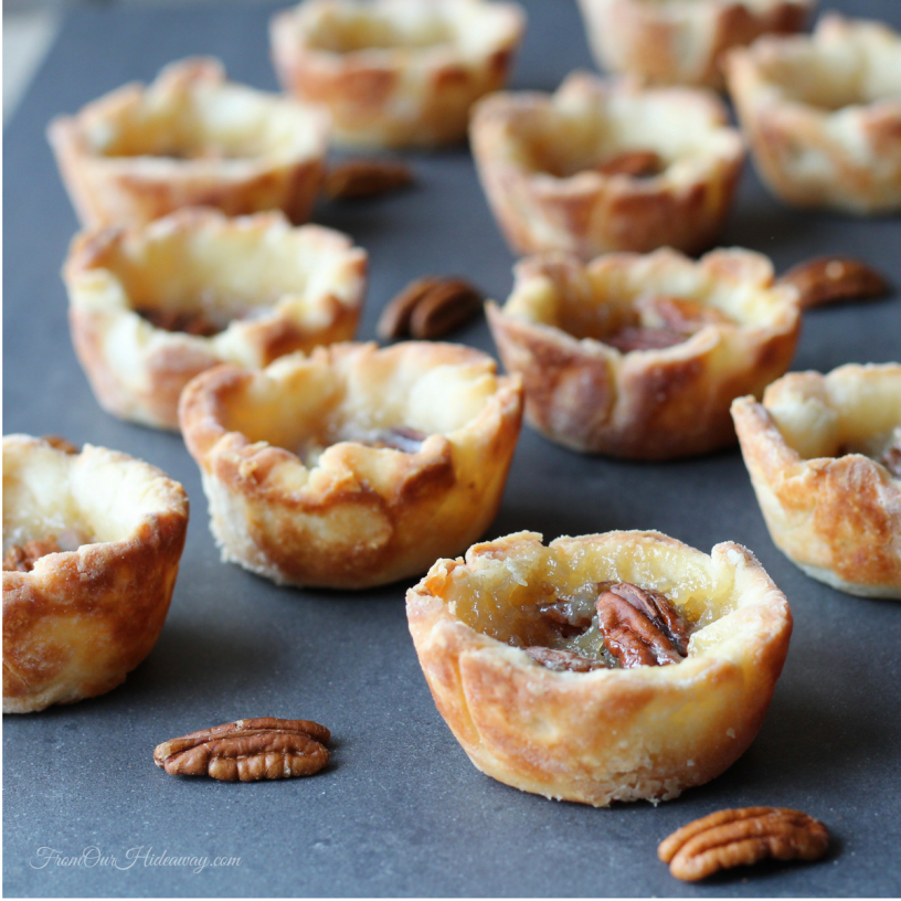 Maple Syrup Butter Tarts from From Our Hideaway at Allergy Free Thursdays weekly gluten-free linky party. | RaiasRecipes.com