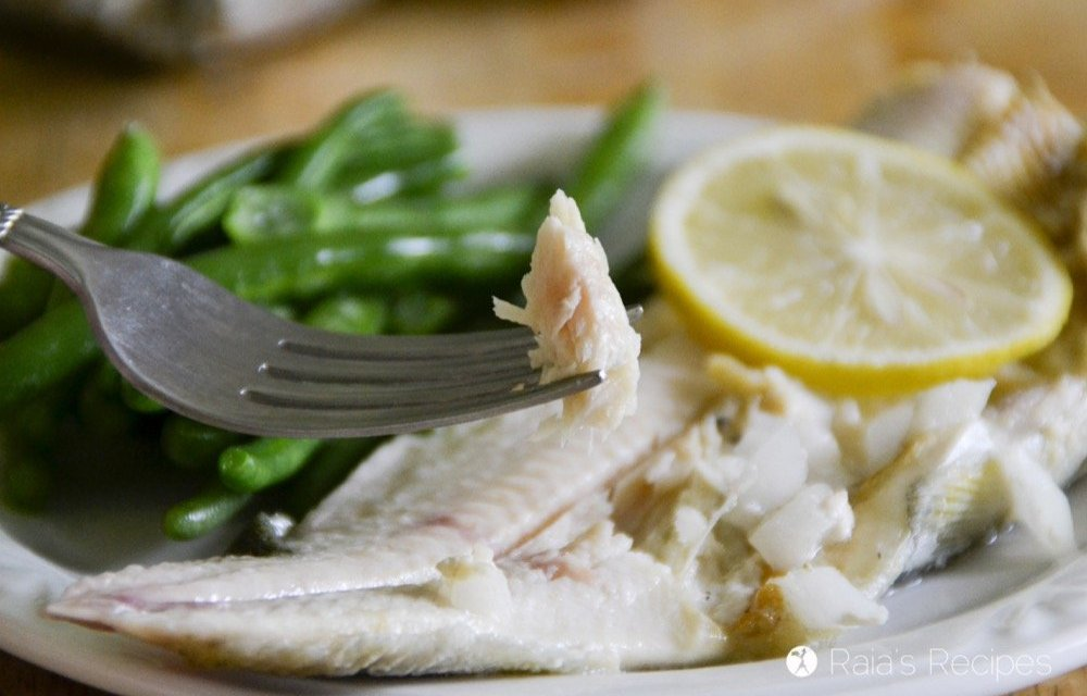 Baked Trout with Lemon, Garlic and Onion