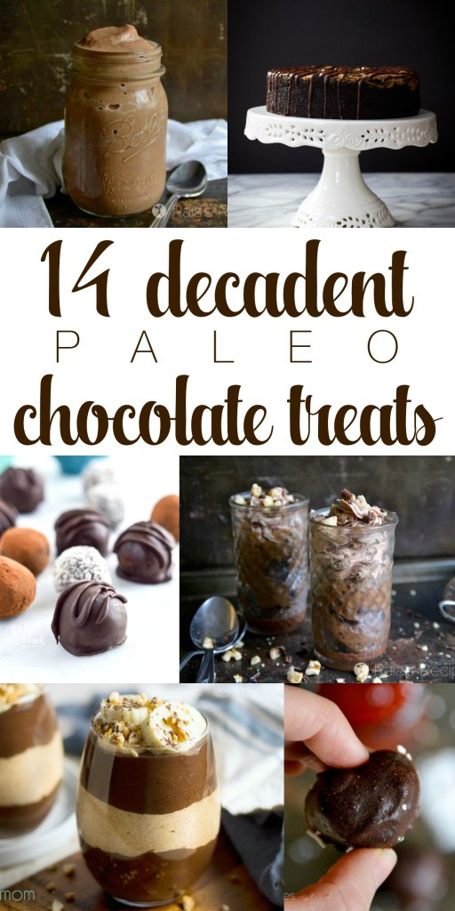 Drinks, cakes, puddings, and brownies... These decadent paleo chocolate treats are just what you need to satisfy your cravings. | RaiasRecipes.com