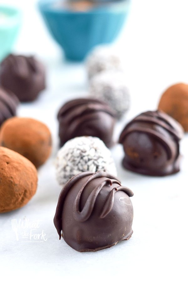 Paleo Chocolate Truffles from What the Fork