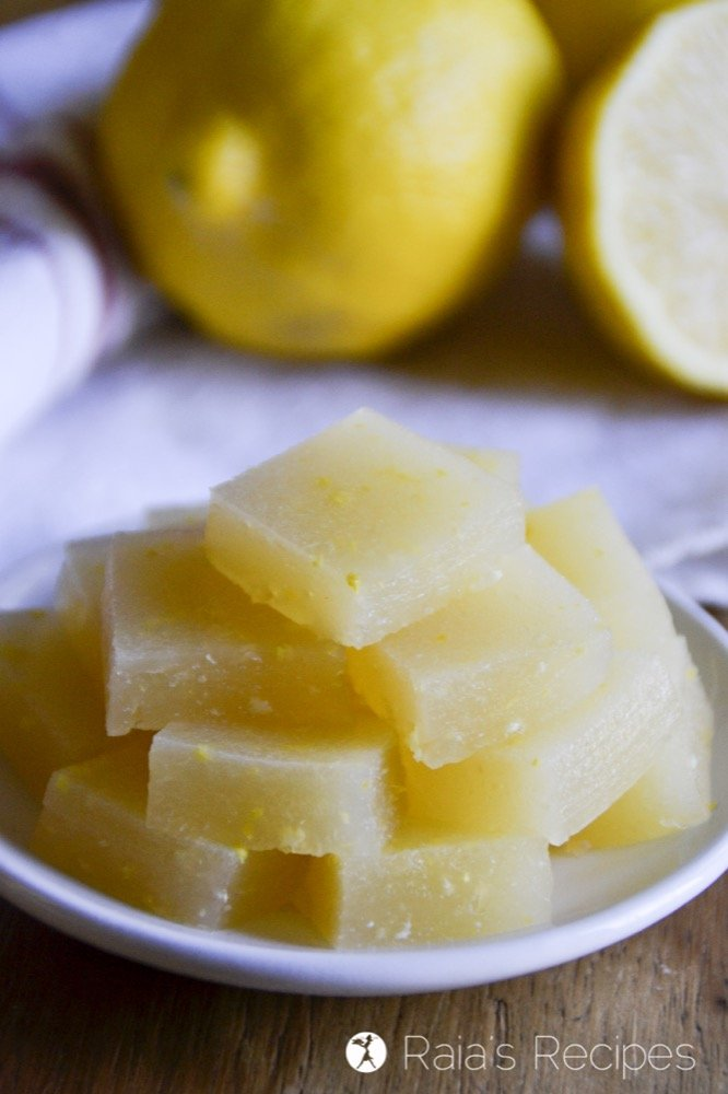 Nourishing and full of probiotics, these Kombucha Lemon Gummies are the perfect healthy treat! | RaiasRecipes.com
