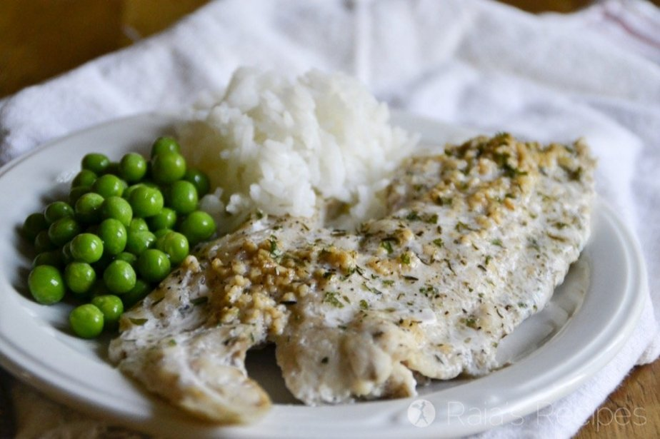 Bursting with nutrients and flavor, this Simple Herbed Red Drum will be sure to please your tummy and taste-buds. | RaiasRecipes.com