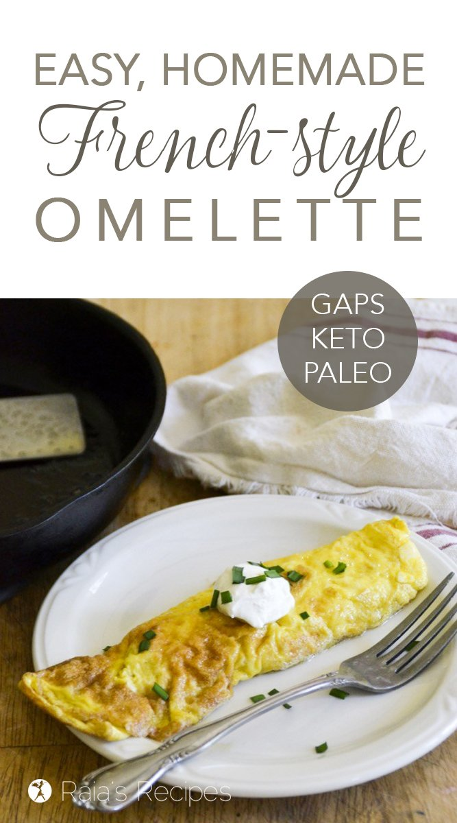 Easy Homemade French-Style Omelette #gapsdiet #keto #lowcarb #paleo #realfood #breakfast #omelette #healthy #eggs