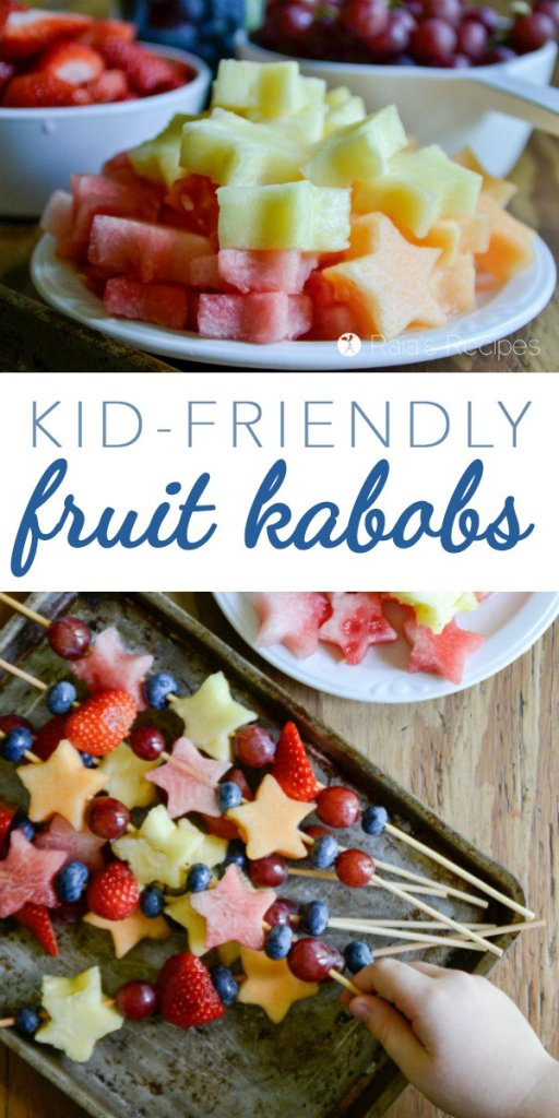 Need a healthy treat to feed your kiddos or take to your next picnic/potluck? Try these Kid-Friendly Fruit Kabobs.