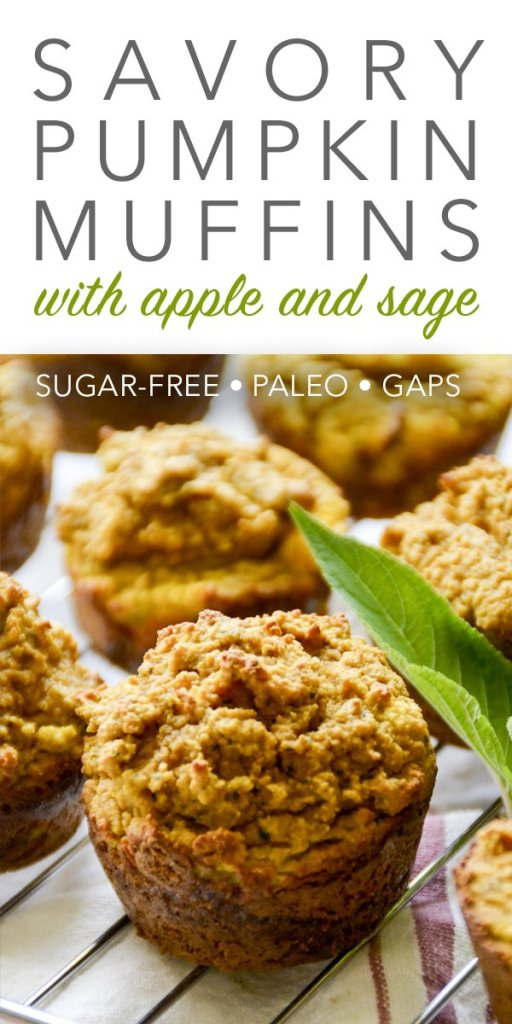 Perfect for breakfast or a snack, these paleo and GAPS-friendly Savory Pumpkin Muffins with Apple & Sage are a delicious treat!
